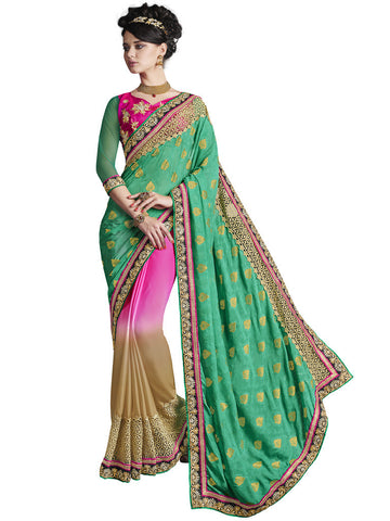 Saree Multi,Viscose Jacquard