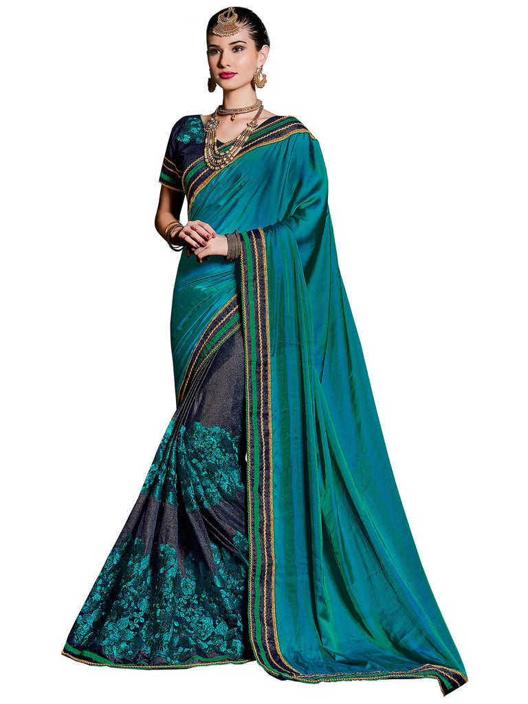 708b953cb7aad Buy Multi Fancy Fabricsand Paper Silk Saree On Cash On Delivery ...