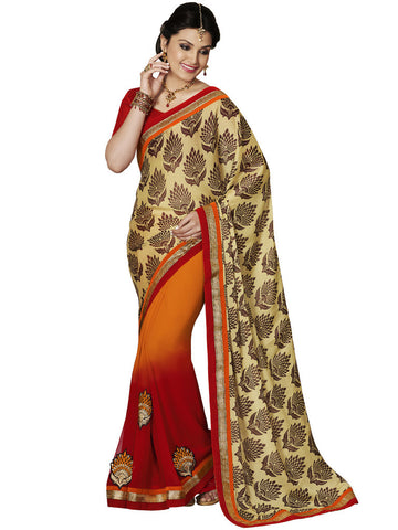 Saree Multi,Georgette