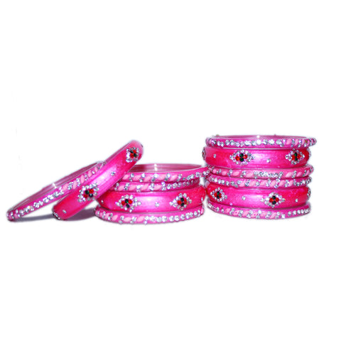 Beadworks and Gemworks Glass Bangles set for woman