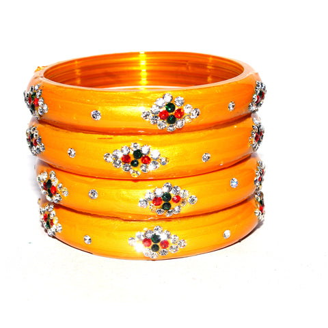Beadworks and Gemworks Bangles Set in multicolor