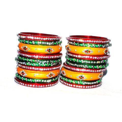 Bridal glass bangles set