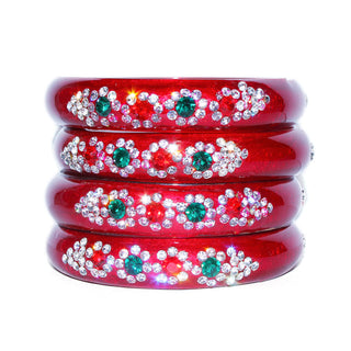 Red Dailywear glass bangles set for woman