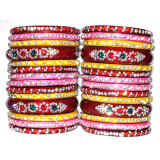 Gemwork glass bangles in multicolor for woman