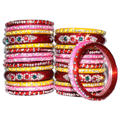 Bridal glass bangles chura set