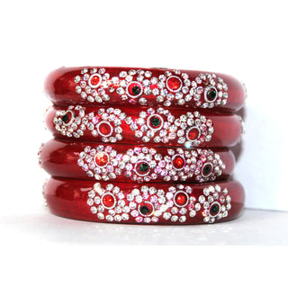 Designer Beaded handwork glass bangles for women