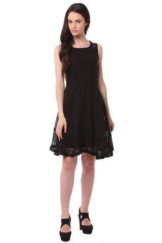 Black Midi Dress DN 1007