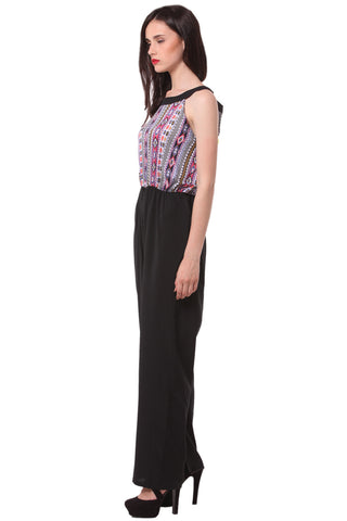 Printed Sleeveless Jump Suit 1133