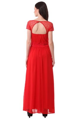 Red Maxi Dress DN 1017