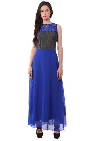 Blue  Maxi Dress DN 1018