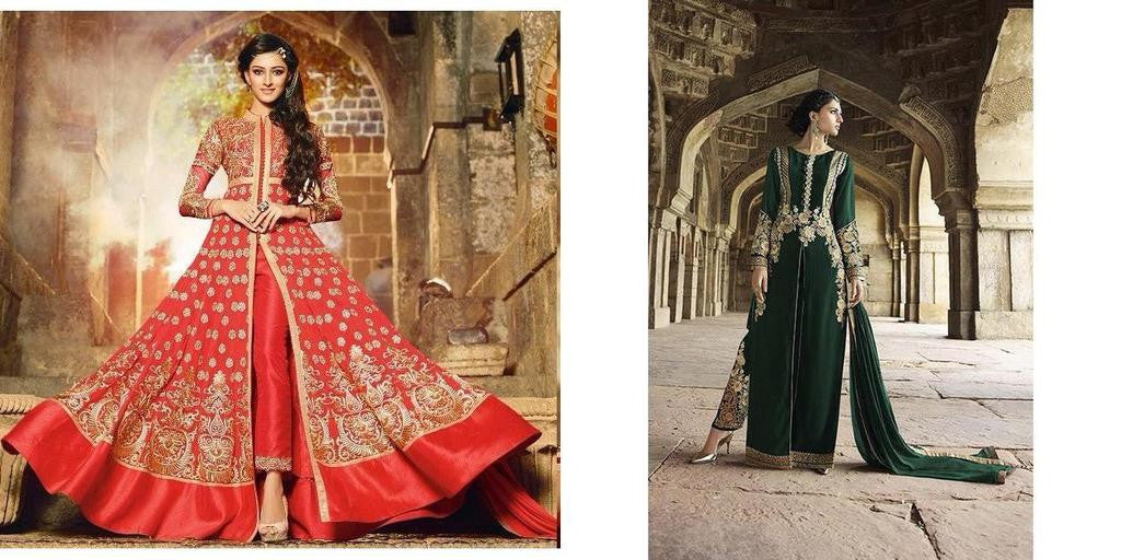 f62199f0b92 Red Anarkali Suit with heavy work