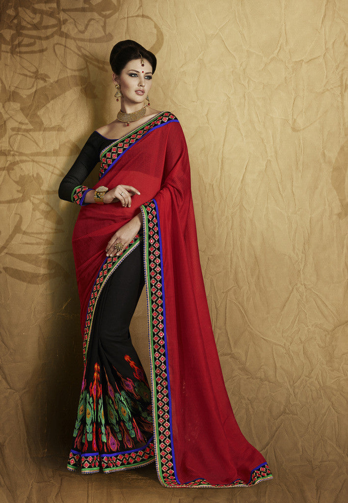 f742076eb35 Designer beige and brown saree for party