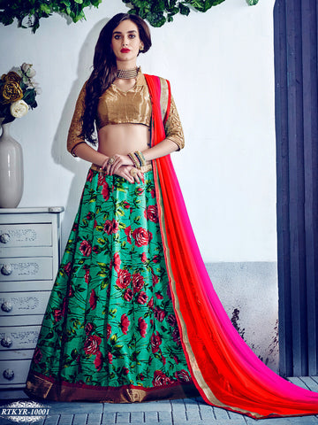 Red , Violet,Banglori Silk , Net,Heavy designer lehenga with embroidery work