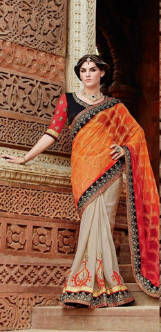Women in Heavy Bridal sari