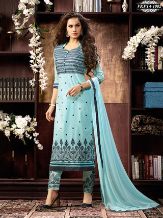 Long knee length designer straight salwar suits