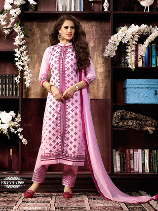 Designer straight suits knee length with embroidery work