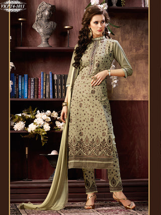 Designer straight knee length long salwar suits