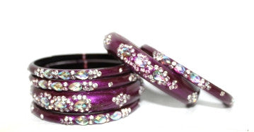 Designer bridal glass bangle set for women