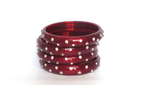 Stardust Red Glass bangles for women
