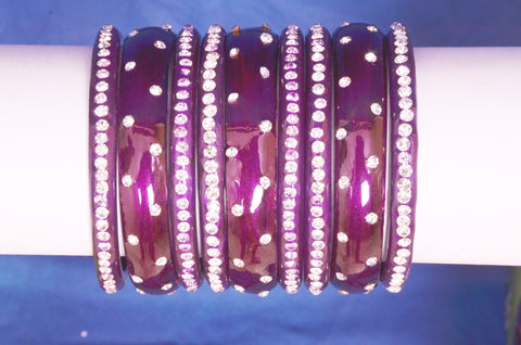 Purple Glass Bangles for women