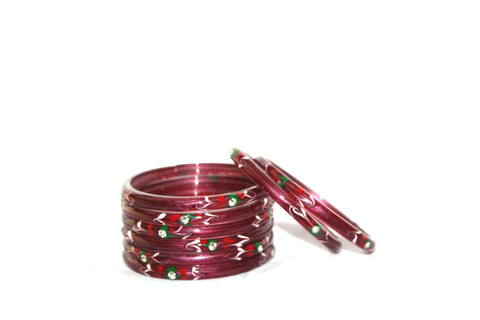 Maroon bangles for women