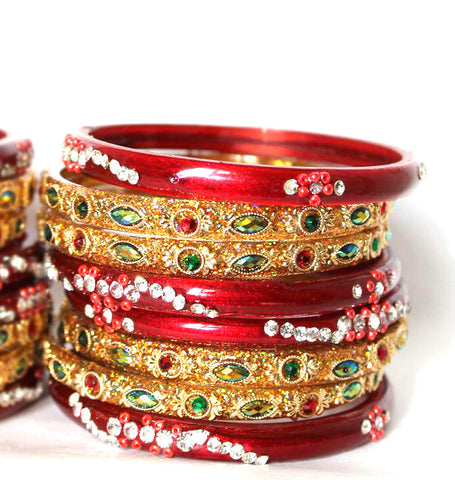Bridal glass chura set