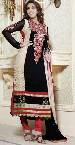 Afreen Straight Salwaar Suit  4204