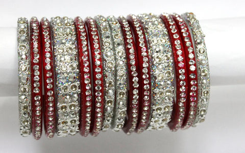 Silver glass bangles chura