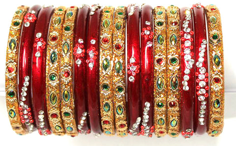 Wedding glass bangles set