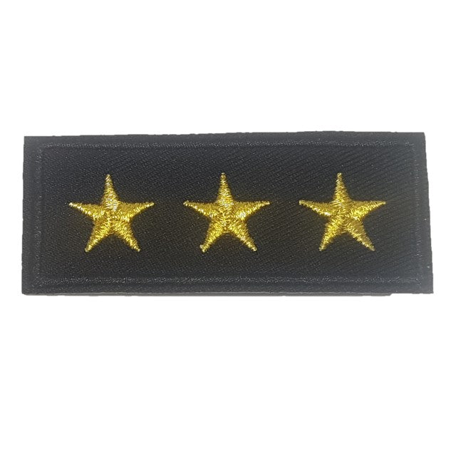 3 star general Iron on patch bar iron on patch stars 3 stars
