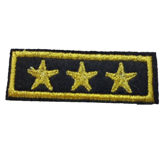3 star general military style 3 gold star bar iron on patch sew on transfer