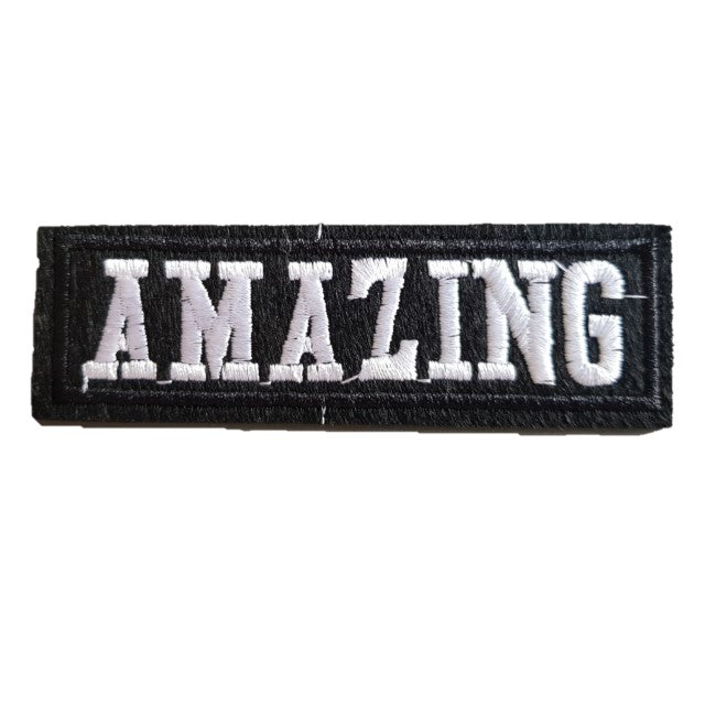 AMAZING Words Slogan Motorcycle Biker Patch Iron On Patch sew on transfer