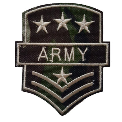 green camo style army military iron on patch sew on transfer