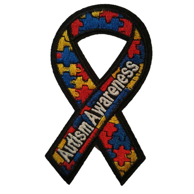 Autism Awareness Ribbon Iron On Patch Sew On Transfer