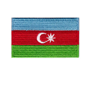 Azerbaijan Country Flag Iron On Patch Sew On transfer