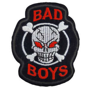 Bad Boys Skull Iron On Patch Sew on Transfer