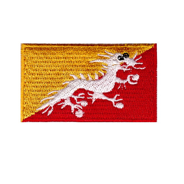 Bhutan Country Flag Iron On Patch Sew On transfer