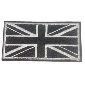 black and white military style UK Great Britain Flag Iron On patch
