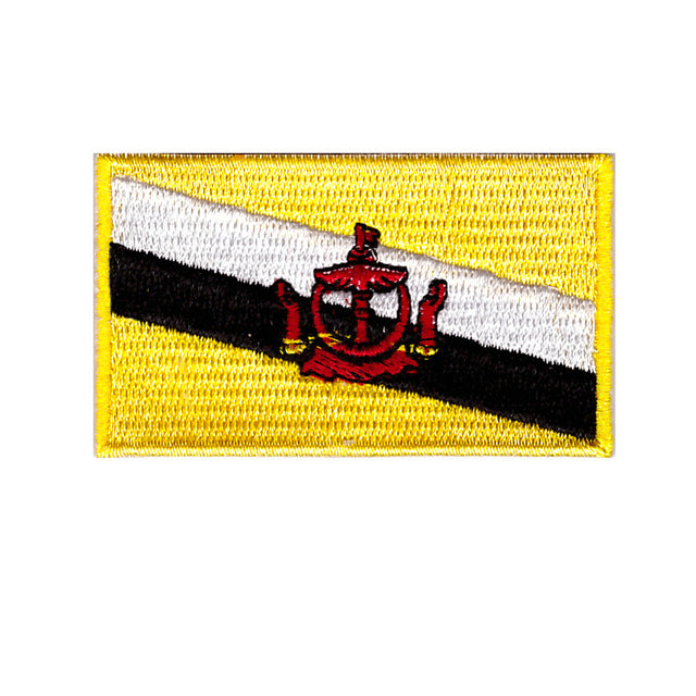 Brunei national country flag Iron on patch sew on transfer