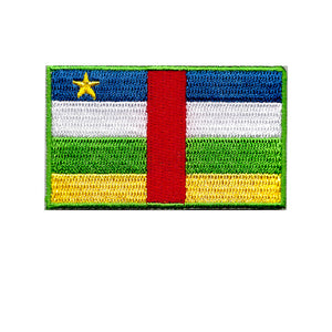 Central Africa Country Flag Iron On Patch Sew On transfer