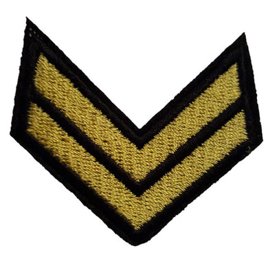Corporal stripes chevrons iron on patch Sew on Transfer