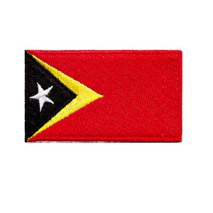 East Timor Country Flag Iron On Patch Sew On transfer