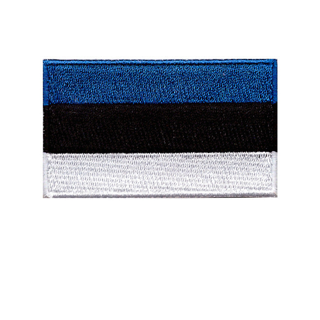 Estonia Country national flag Iron On Patch Sew On Transfer