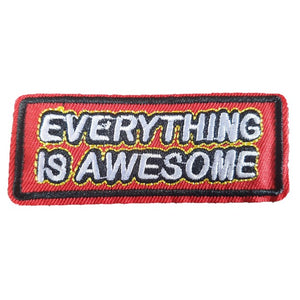 Everything Is Awesome Words Text Iron On Patch Sew on Transfer