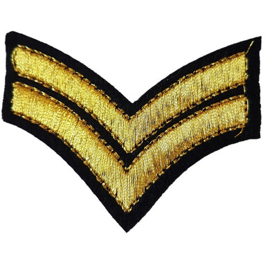 stitched corporal striped chevrons iron on patch sew on transfer