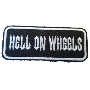 HELL ON WHEELS Words Slogan Motorcycle Biker Patch Iron On Patch sew on transfer
