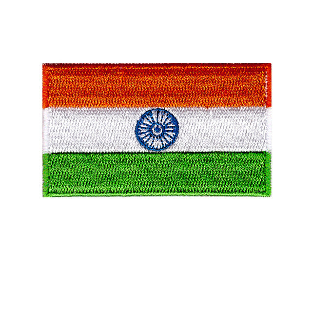 India national country flag iron on patch sew on transfer