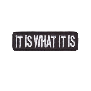 IT IS WHAT IT IS Words Slogan Motorcycle Biker Patch Iron On Patch sew on transfer