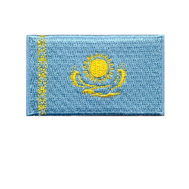 Kazakhstan Country Flag Iron On Patch Sew On transfer