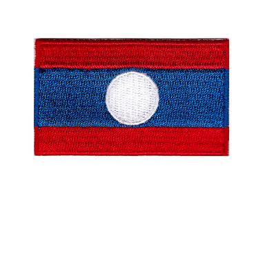 Laos Country Flag Iron On Patch Sew On transfer